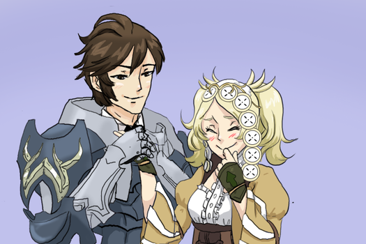.:Commission:. Frederick x Lissa by Sonicsis