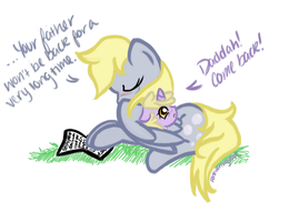 Daddy's Gone Now, Dinky by perseveringrose