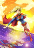 super girl new 52 by SketchSchmidt-Art