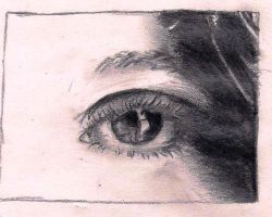 Realistic eye Pencil Drawing by neeshma