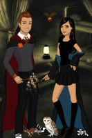 Gryffindor and Ravenclaw by katerinaaqu
