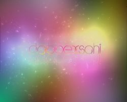 rainbow text effect wallpaper by dabbex30