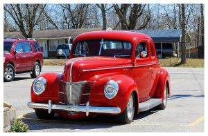 A Sharp Red Ford Deluxe by TheMan268