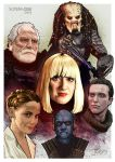 Scream Con 2014 Guests Print by oldredjalopy
