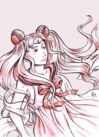 Sailor Moon doodling by sallyt