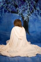 Back of Woman in cloak - Stock by Sassy-Stock