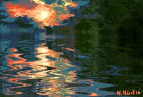 Fire in the Lake by Nigel-Hirst