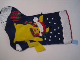 Pikachu Christmas Stocking by CL-Pinkskull