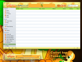 Carrot top iTunes skin by rhubarb-leaf