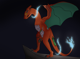 Charizard M by Bloodlive-Mazohyst