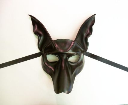 Black Jackal Anubis Leather Mask by Teonova by teonova