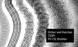 Dither and Hatches - CS2 brushes by screentones