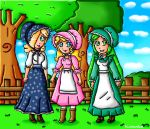 Pioneer girls by ninpeachlover