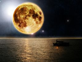 Yellow moon 2 by Francr2009