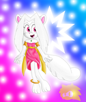 Gift - Celeste the Albino Mink by MarioMario54321