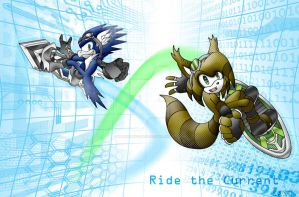 Ride the Digital Current by silveramysaurus07