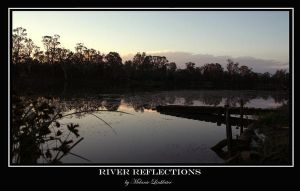 river reflection by t3amo