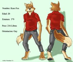 Commission - Kuro Reference Sheet by Gerardson