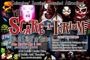 The Scare-A-Torium Post card by dragonhuntr
