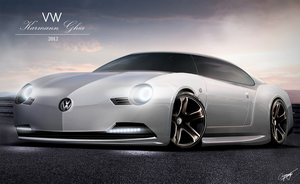 VW Karmann Ghia concept render by AS001