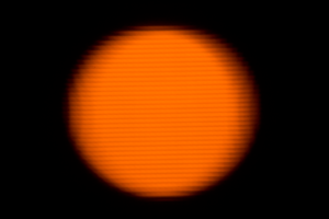 Orange Glow of the... Moon? by Camel51