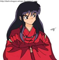 Human InuYasha Colored by dark-dragon-wings