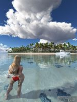 Paradise island by Offrench