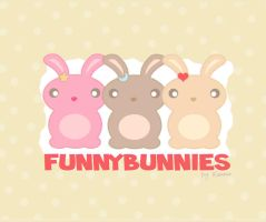 Funny Bunnies Wallpaper by Ransie3