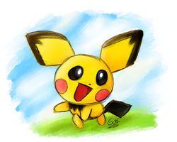#172 Pichu by Guilll