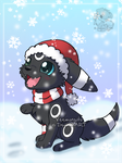Umbreon in the snow by Veemonsito