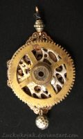 Clock gear on filigree by LuckyKojak