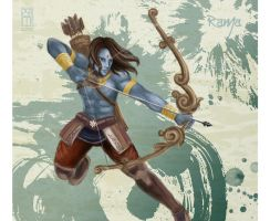 .: Rama and His Bow :. by zsami