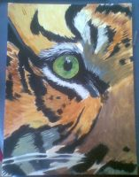 Tiger eye in acrylics by VIZEarts