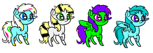 Adopts 4 CLOSED by Rainbow-ninja-adopts