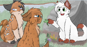Hawkpaw, Runningpaw and Applepaw by CascadingSerenity