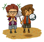PL:MM+AC: Fossil Hunting by Vulpixi-Misa