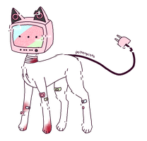 [adopt] glitchy tv head cat thing - CLOSED by polterqeists