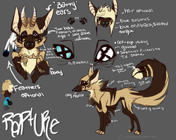Rapture Fursona Reference .:2013:. by RancidRampage