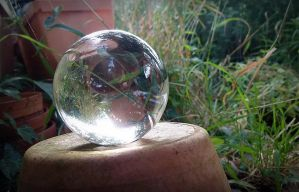 Flower pots and crystal ball by April-Mo
