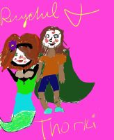 Ray's Mermaid Thorki Attempt by EvaLove1