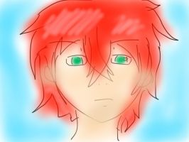 Airy finger drawing. His name? Fade.  by rosalie1234567