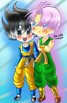 Trunks and Gotennn~ by dbz-senpai