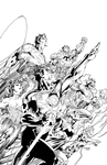 Justice League - inks by J-Skipper