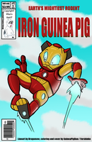 Iron Guinea Pig cover -collab w/ Dragonvee- by GuineaPigDan