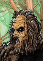 Sketch Card for Cryptids by mmunshaw