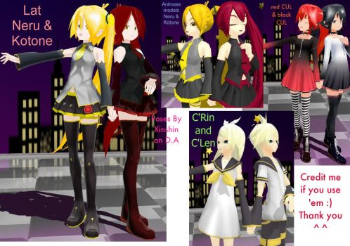 MMD Holding Hands-(ffx-2)-pose by xinshin