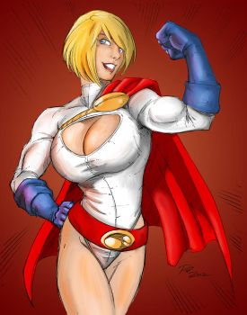 Colorist Piece - Power Girl by epicbanana