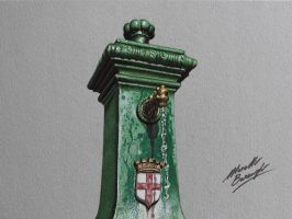 Vedovella drinking fountain DRAWING by marcellobarenghi
