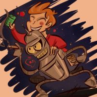 fry, you're my friend by coffeebandit