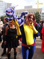 Shadowcat and Lockheed by TheLadySasha